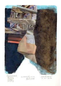 Nevidljivim ljudima, mIxed media on paper, 15 x 20, 2016